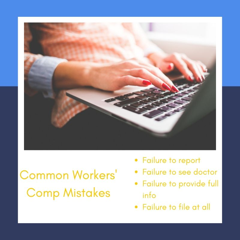 Common Workers Comp' Mistakes Minfographic