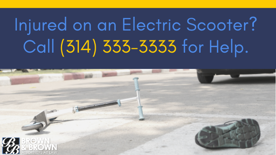 Electric Scooter Injuries CTA | Brown & Brown