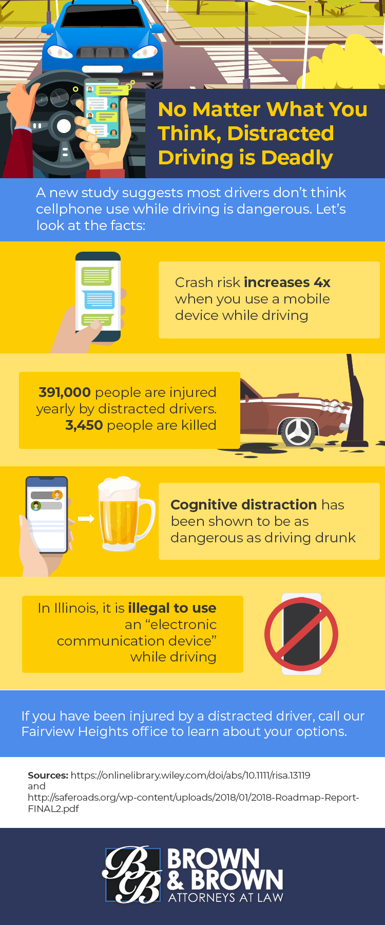Types of Distracted Driving | St  Louis | Brown & Brown