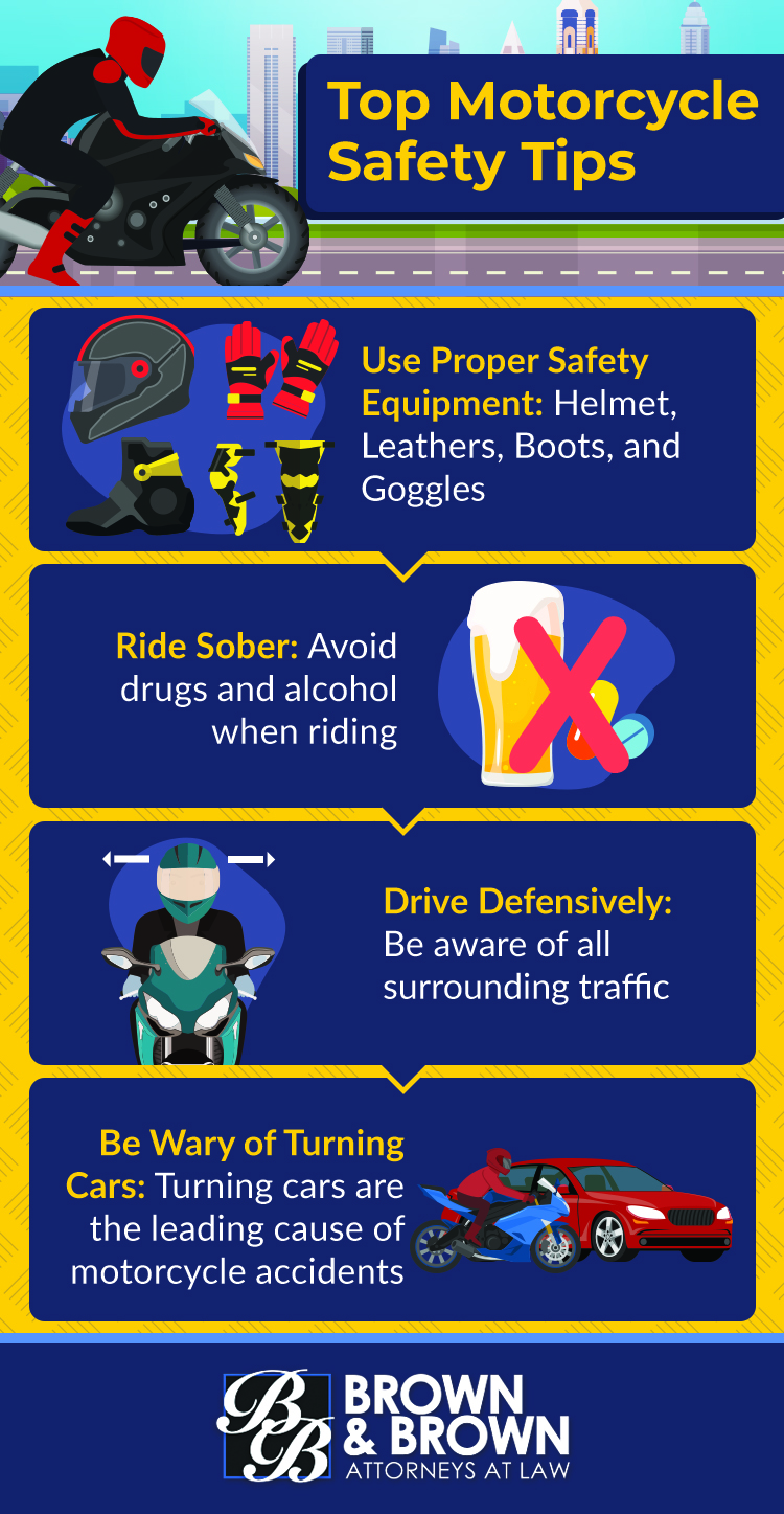 Top Motorcycle Safety Tips Infographic